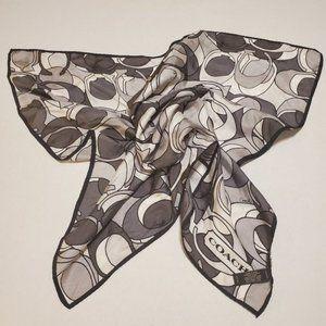 COACH silk sig scarf. 27x 27 square neck tie